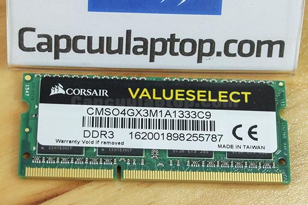 Ram Corsair 4GB DDR3 Bus 1333 CMSO4GX3M1A1333C9